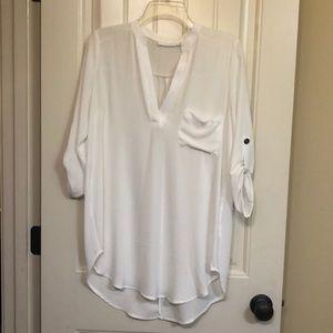 Lush tunic. White
